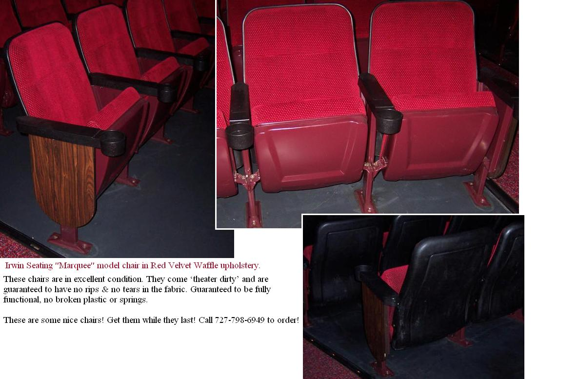 red theater chairs. Red Velvet Waffle Used Theater Seating. Chairs